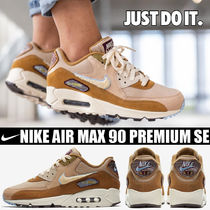 Nike AIR MAX 90 Blended Fabrics Street Style Plain Leather Sneakers