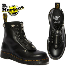 Dr Martens 1460 Plain Toe Unisex Studded Street Style Collaboration Leather
