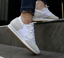PHILIPPE MODEL PARIS Unisex Street Style Leather Low-Top Sneakers