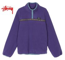 STUSSY Casual Style Street Style Long Sleeves Tops