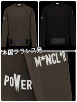 MONCLER Crew Neck Street Style Long Sleeves Cotton