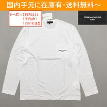 COMME des GARCONS Crew Neck Long Sleeves Cotton Long Sleeve T-Shirts