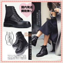 Gianvito Rossi Lace-up Casual Style Street Style Plain Leather