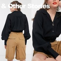 & Other Stories Puffed Sleeves Long Sleeves Plain Puff Sleeves