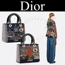 Christian Dior LADY DIOR Other Plaid Patterns Casual Style Canvas Blended Fabrics