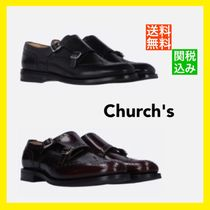 Church's Round Toe Rubber Sole Casual Style Unisex Blended Fabrics