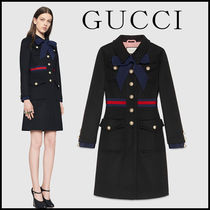 GUCCI Casual Style Wool Plain Medium Long Party Style Office Style