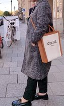 CELINE Vertical Cabas Casual Style Canvas Totes