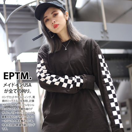 Long Sleeve T-shirt Other Plaid Patterns Crew Neck Pullovers