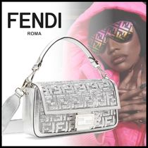 FENDI BAGUETTE Monogram Casual Style Street Style Collaboration 3WAY