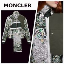 MONCLER Paisley Silk Long Sleeves Party Style Elegant Style