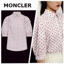 MONCLER Flower Patterns Casual Style Puffed Sleeves Bi-color Cropped