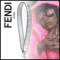 FENDI STRAP YOU Monogram Casual Style Calfskin Street Style Collaboration
