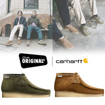 Carhartt Unisex Suede Street Style Leather Loafers & Slip-ons