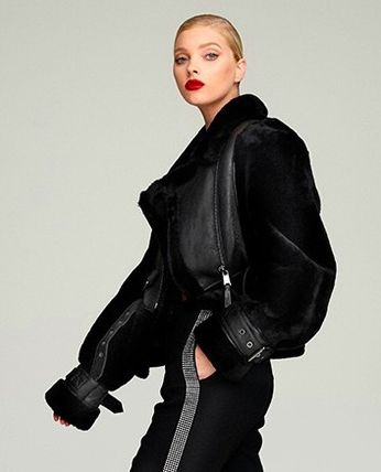Short Casual Style Plain Party Style Elegant Style Shearling