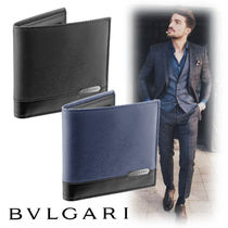 Bvlgari Street Style Leather Folding Wallets