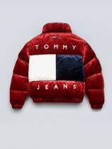 Tommy Hilfiger Unisex Street Style Plain Medium Down Jackets