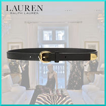 Ralph Lauren Casual Style Plain Leather Elegant Style Belts