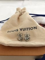 Louis Vuitton V Unisex Logo Earrings