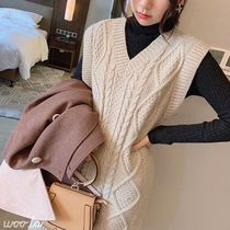 Casual Style Long Vests