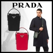 PRADA Saffiano Plain Leather Messenger & Shoulder Bags