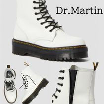 Dr Martens JADON Platform Round Toe Casual Style Blended Fabrics Street Style