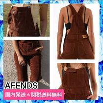 AFENDS Dungarees Casual Style Tight Corduroy Street Style Plain