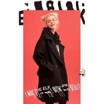 ELF SACK Casual Style Unisex Street Style Plain Medium Oversized