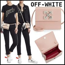 Off-White Casual Style Street Style A4 2WAY Leather Shoulder Bags