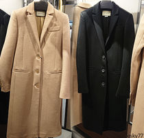 GUCCI Unisex Wool Plain Long Elegant Style Chester Coats