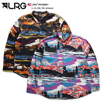 LRG Camouflage Unisex Street Style Bi-color Long Sleeves Cotton