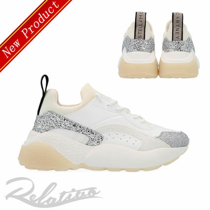 Round Toe Rubber Sole Lace-up Casual Style Low-Top Sneakers