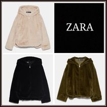 ZARA Faux Fur Medium Jackets