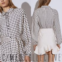 Cameo the Label Gingham Other Check Patterns Casual Style Long Sleeves