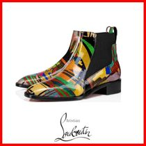 Christian Louboutin Tropical Patterns Leather Flat Boots