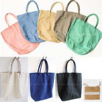 Ron Herman Casual Style Unisex Canvas A4 Plain Totes