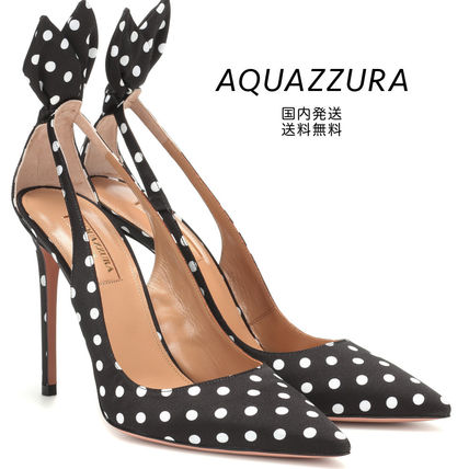 Dots Leather Pointed Toe Pumps & Mules