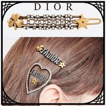 Christian Dior JADIOR Costume Jewelry Barettes Star Casual Style Unisex Clover