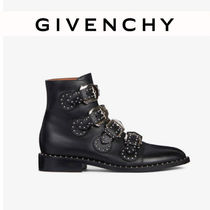 GIVENCHY Casual Style Studded Street Style Plain Leather