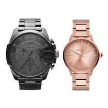 DIESEL Round Quartz Watches Stainless Analog Watches