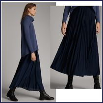 Massimo Dutti Casual Style Pleated Skirts Plain Long Maxi Skirts