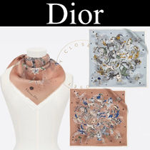 Christian Dior Casual Style Silk Street Style Handmade Party Style
