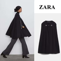 ZARA Wool Plain Medium Elegant Style Outerwear