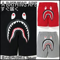 A BATHING APE Printed Pants Camouflage Cotton Shorts