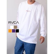 RVCA Unisex Street Style Long Sleeves Long Sleeve T-shirt Logo