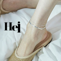 Casual Style Street Style Silver Anklets
