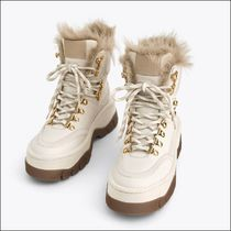 Uterque Platform Mountain Boots Casual Style Sheepskin Fur Plain