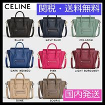 CELINE Luggage Calfskin Plain Handbags