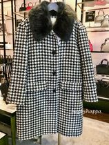 kate spade new york Zigzag Wool Medium Coats
