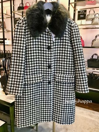 Zigzag Wool Medium Coats